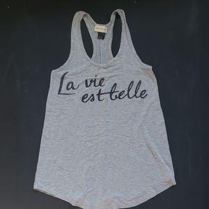 🌻La Vie Est Belle Grey Tanktop